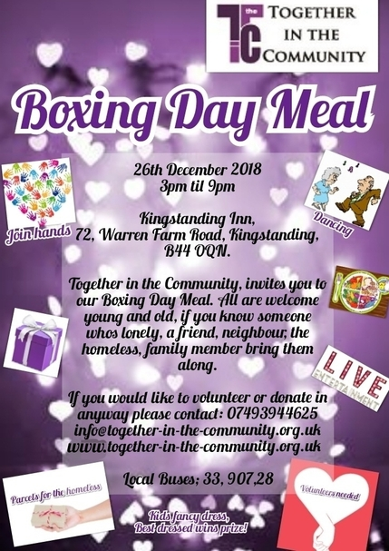 Boxing Day Meal Flyer 2018